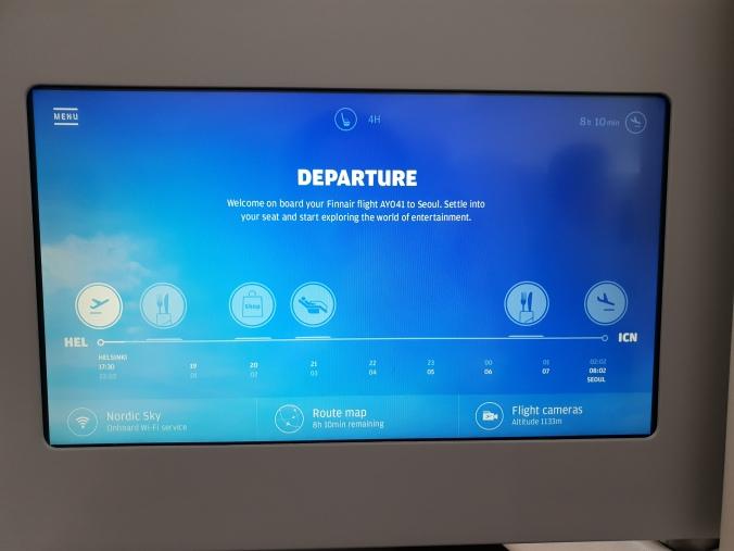 Finnair business class entertainment screen