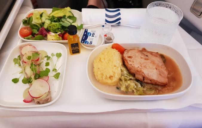 Finnair business class main meal
