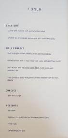 Finnair business class food menu