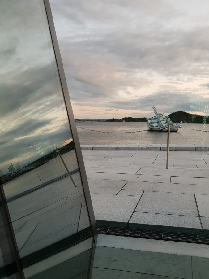 View from inside the Opera House, Oslo