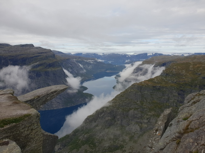 The top of Trolltunga, Norway