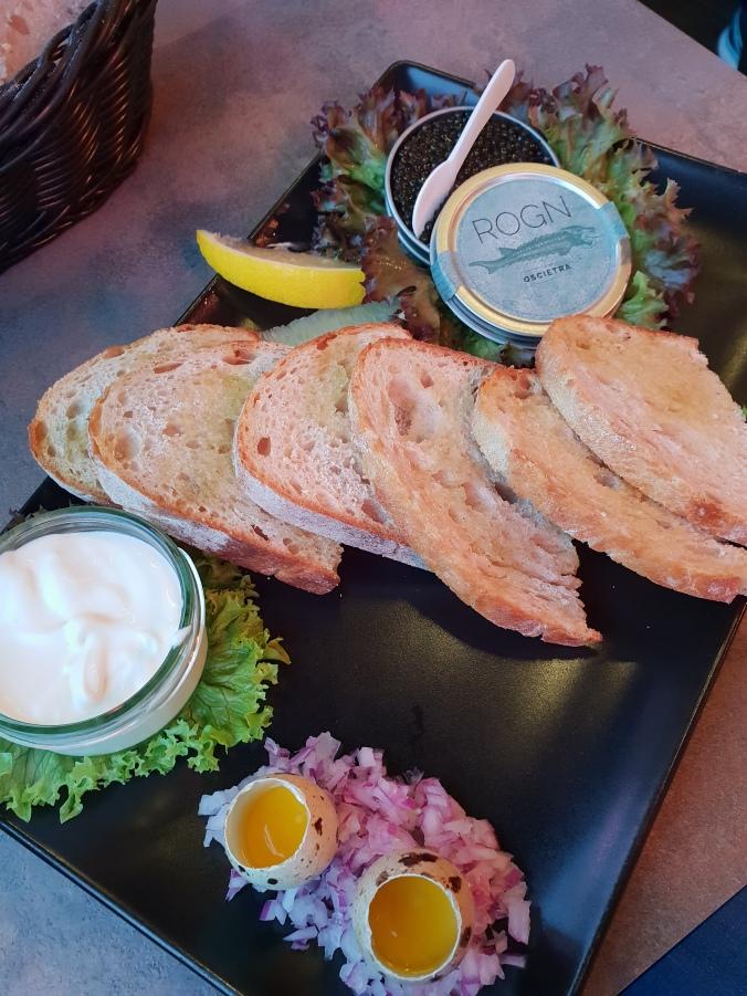 Caviar at Fjellskål Fisk & Skalldyr, Bergen