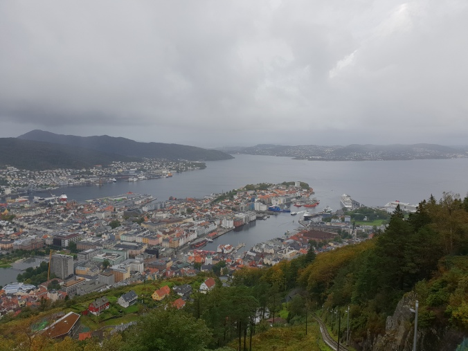 The view over Bergen from Floyen