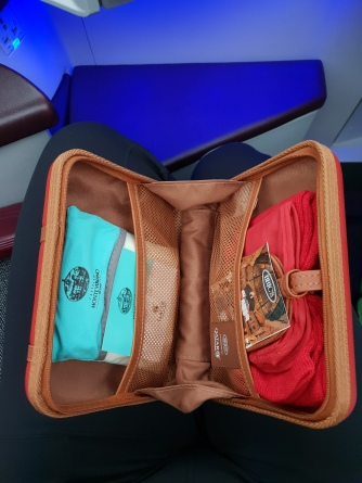 Qatar Airways business class Brics amenity kit