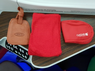 Qatar Airways business class amenity kit