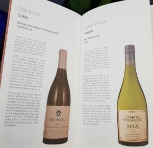 Qatar Airways business class wine list