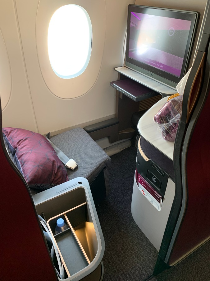 Qatar Airways business class A350 Qsuites window seat