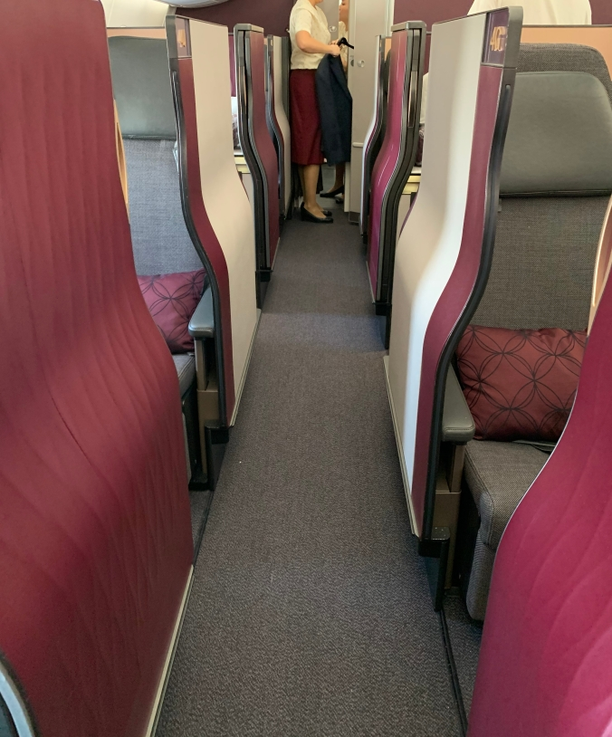 Qatar Airways business class A350 Qsuites
