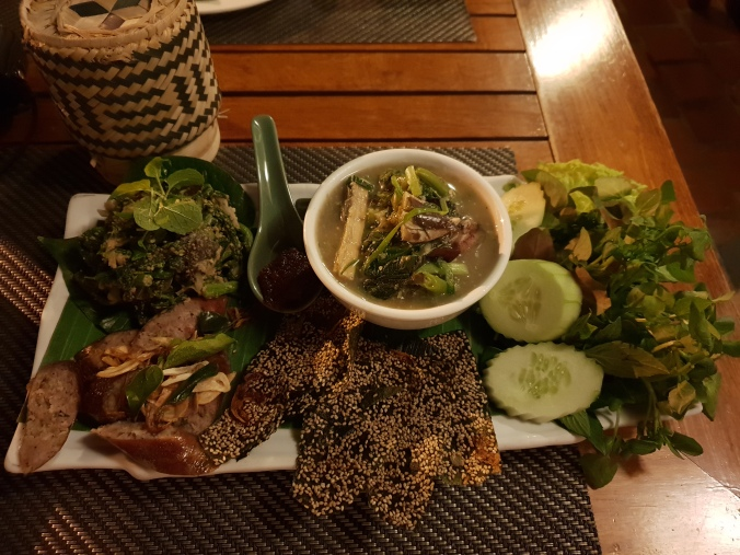 Food at Tamarind Restaurant, Luang Prabang