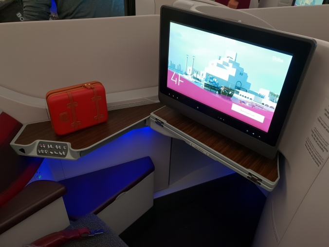 Qatar Airways business class entertaintment