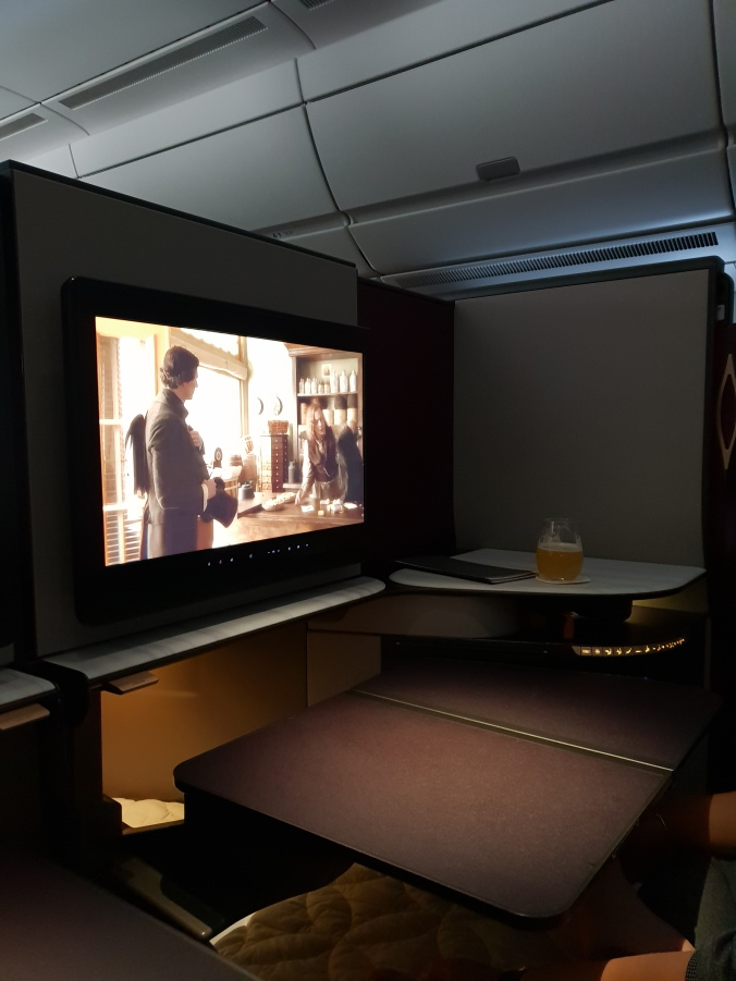 Qatar Airways Qsuites entertainment