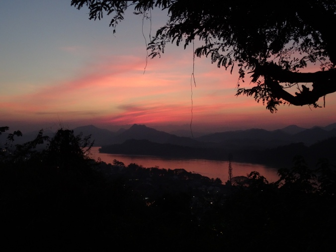 Sunset over the Mekong from Mount Phousi, Luang Prabang