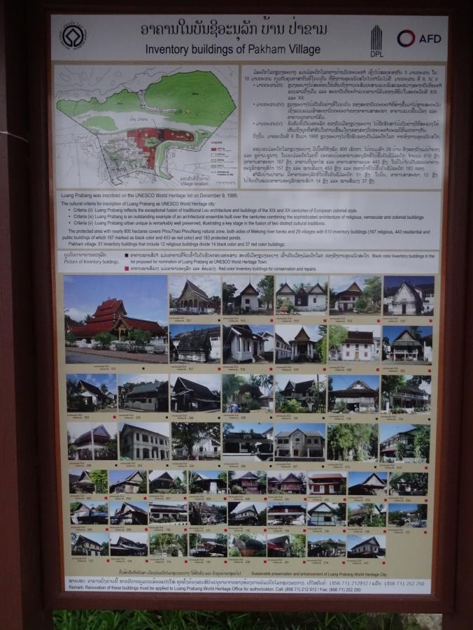 Pakham Village inventory, Luang Prabang