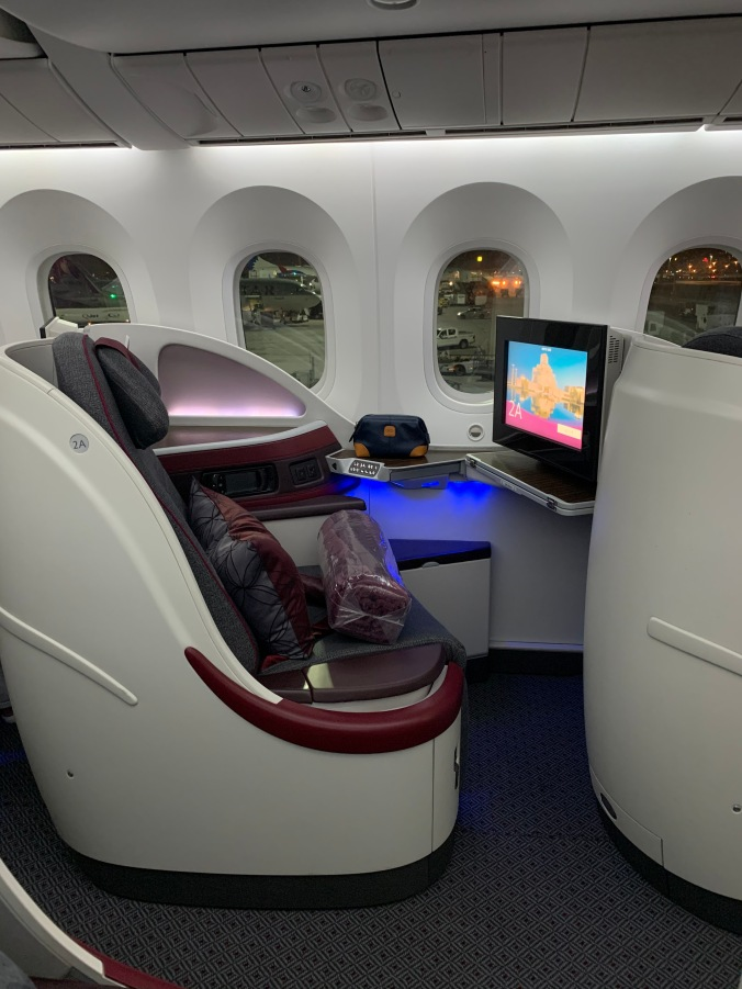 Qatar Airways A350-900 business class seat