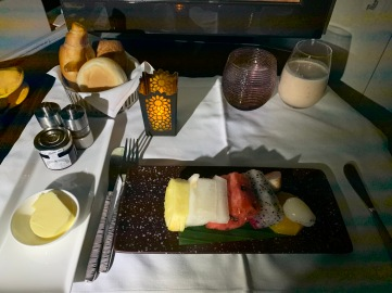 Qatar Airways business class food