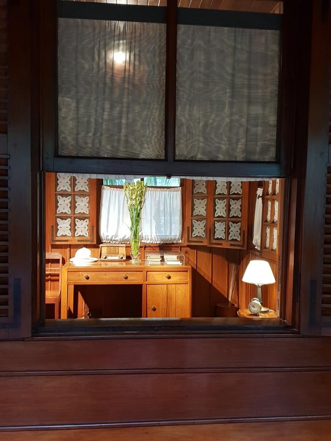 Inside Uncle Ho's stilt house, Hanoi