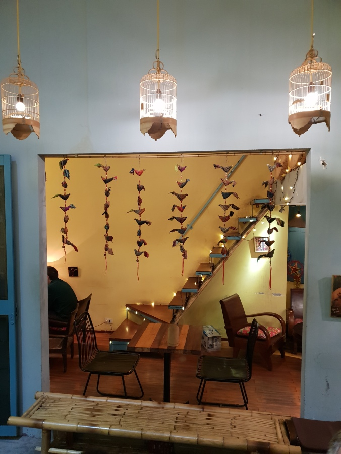 Cute interior at Banh Mi 25, Hanoi