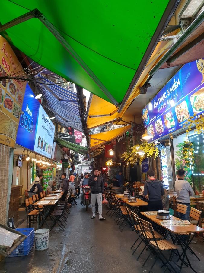 Narrow streets in the Old Quarter, Hanoi