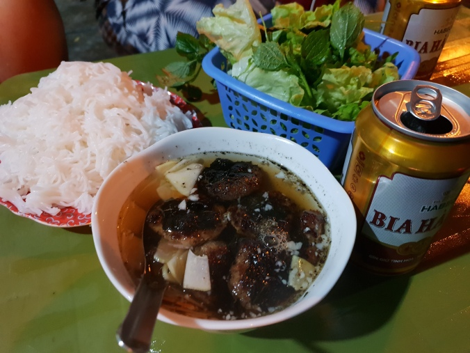 Bun Cha on the street in Hanoi
