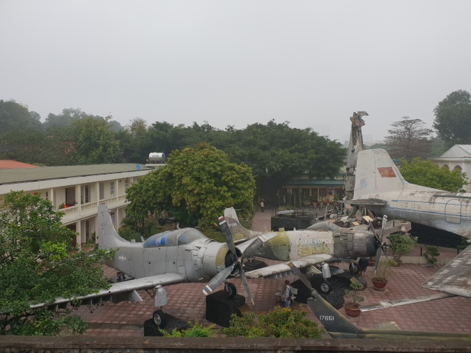 Military aircraft on display at the Military History Museum, Hanoi