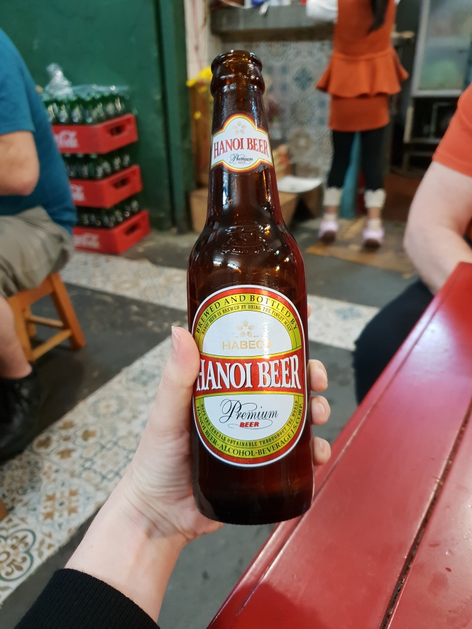 Hanoi beer in Phở Mậu restaurant