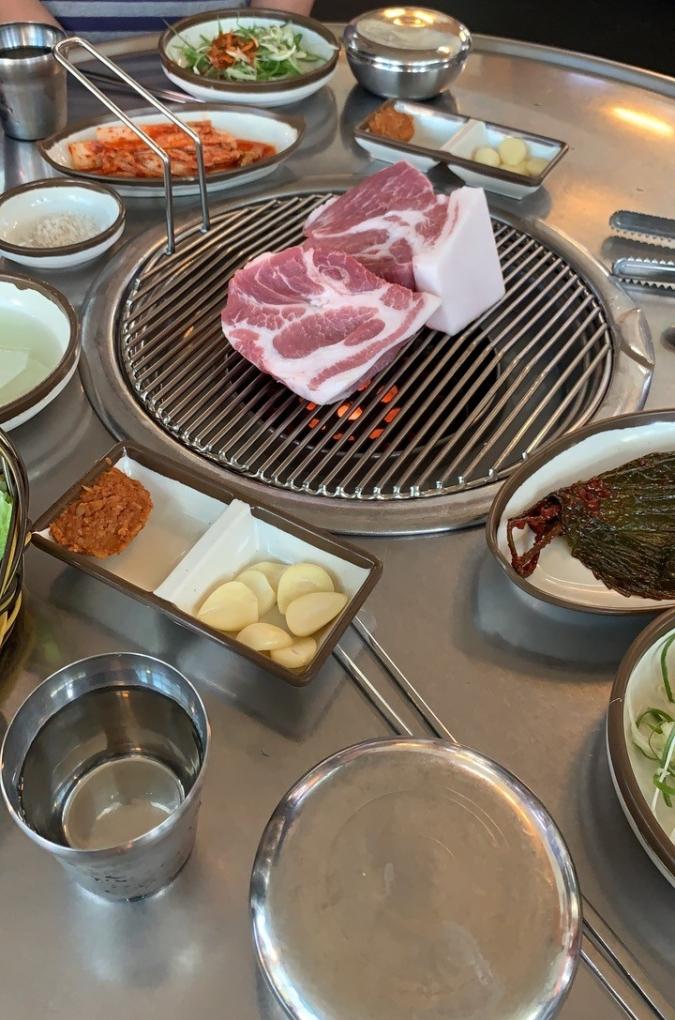 Black pork at Donsadon restaurant in Jeju-si