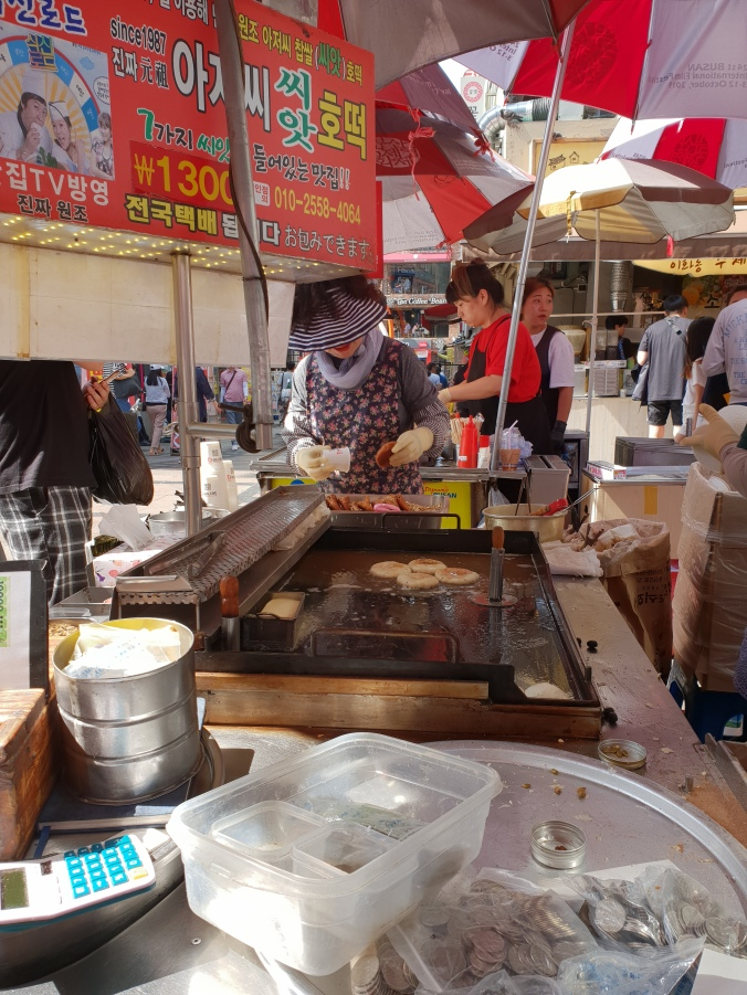 Hotteok stall, BIFF Square