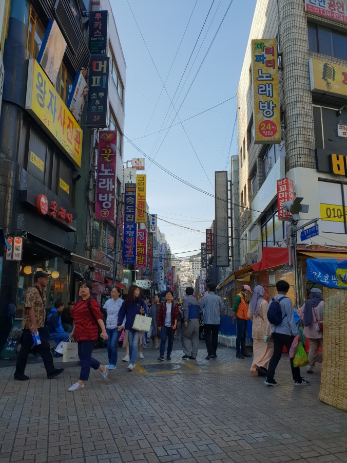 The streets of Busan