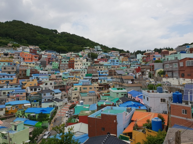 Colourful houses in Gamcheon Culture Village, Busan