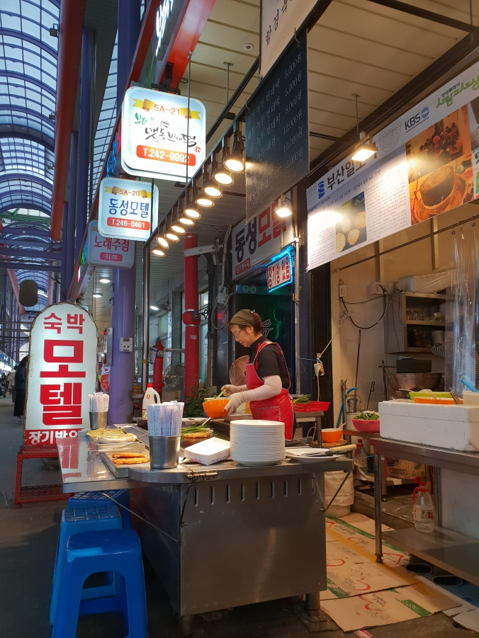 The delicious pajeon stall in Gukje Market
