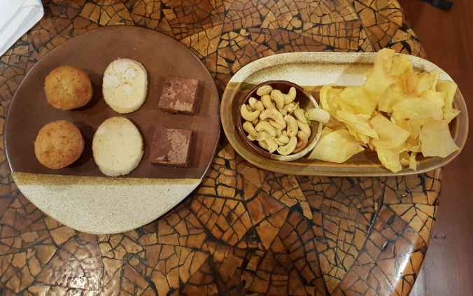 Snacks in the Amanpulo lounge