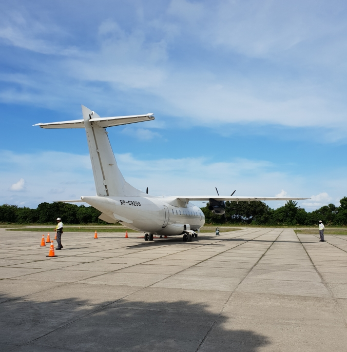 Larger aircraft for the flight back to Manila, Amanpulo