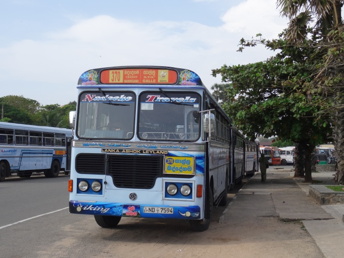 The bus to Galle from Mirissa
