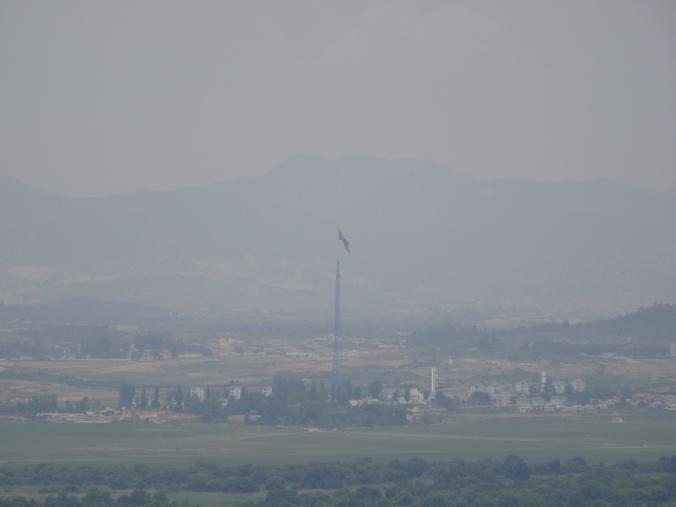 The view into North Korea