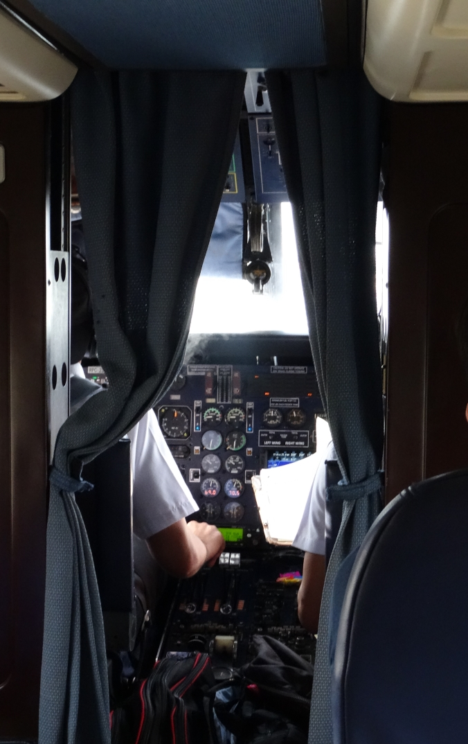 Inside the private plane that takes you to Amanpulo