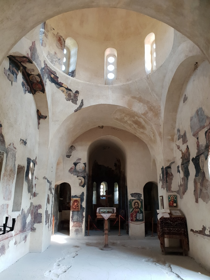 Inside the church at Asen's Fortress, Bulgaria