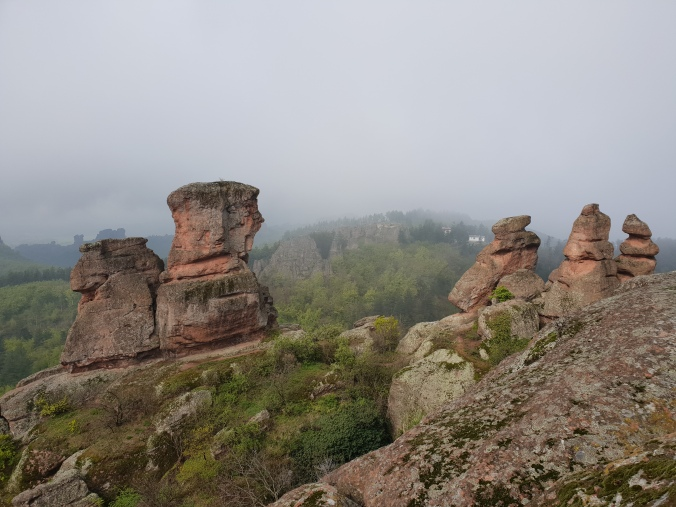 Rock formations at the top of Belogradchik Fortress