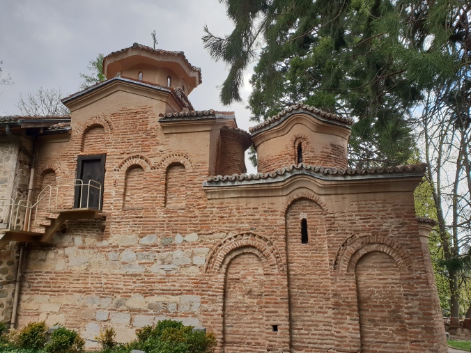 The outside of Boyana church near Sofia, Bulgaria