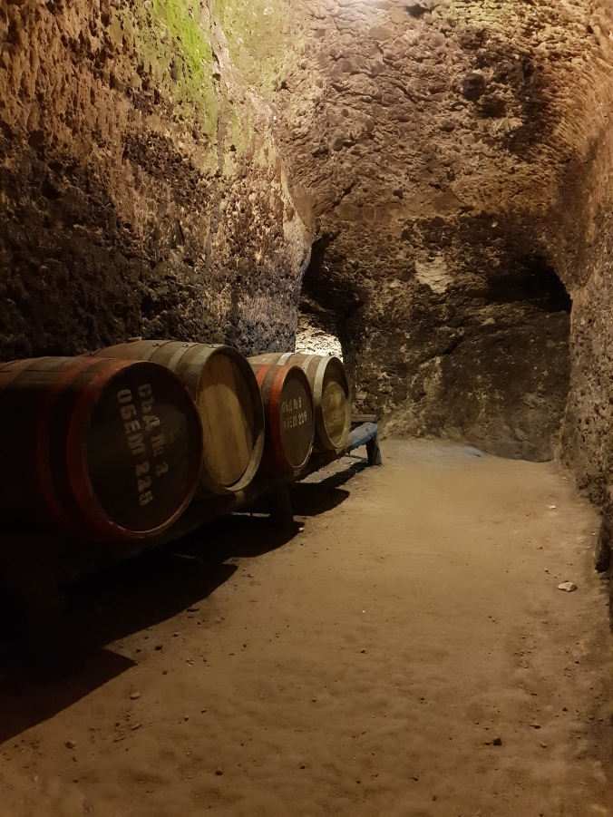 The wine cellars under Kordopulov House, Melnik