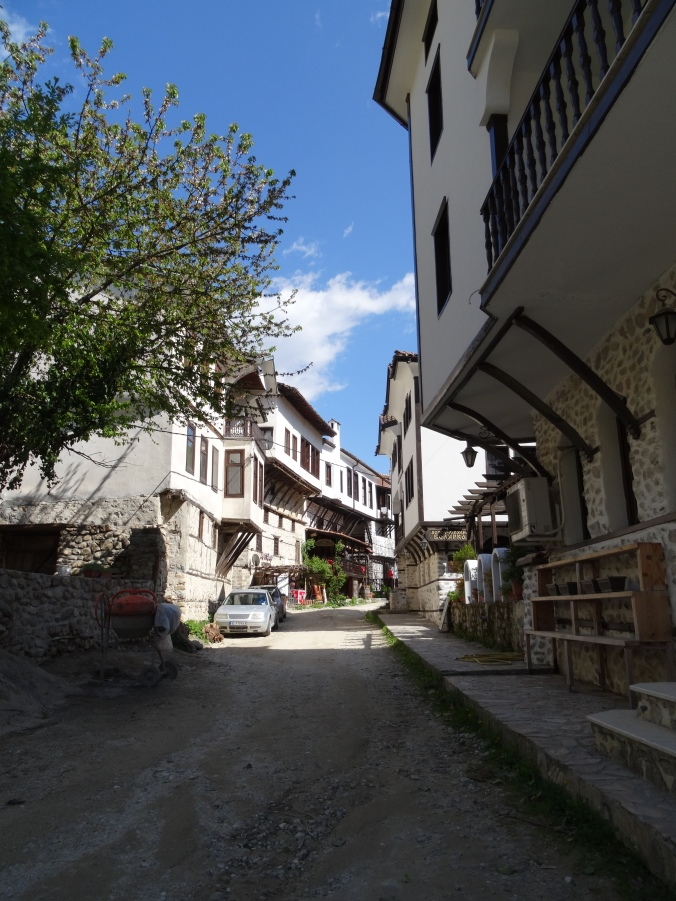 Picturesque streets in Melnik, Bulgaria