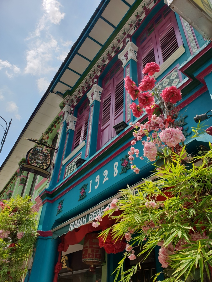 Beautiful shop fronts in Geylang, Singapore