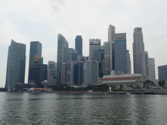 Singapore skyline - view from the bumboat tour