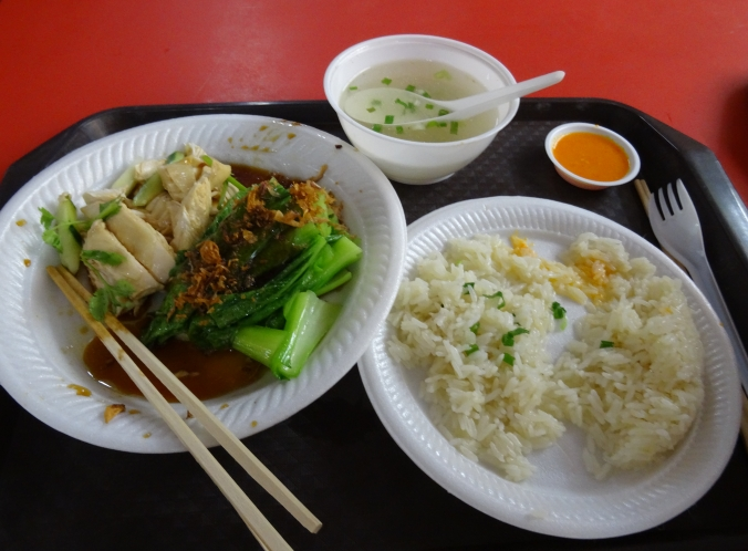 Singapore's famous chicken rice