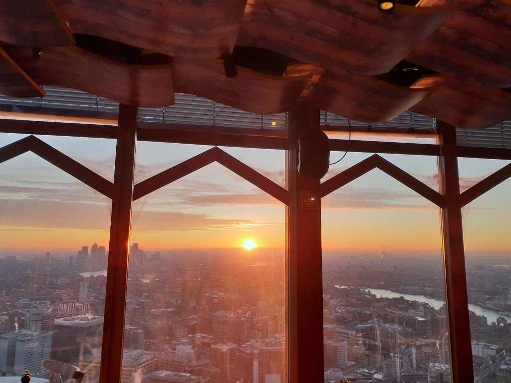 Duck and Waffle City, London sunrise