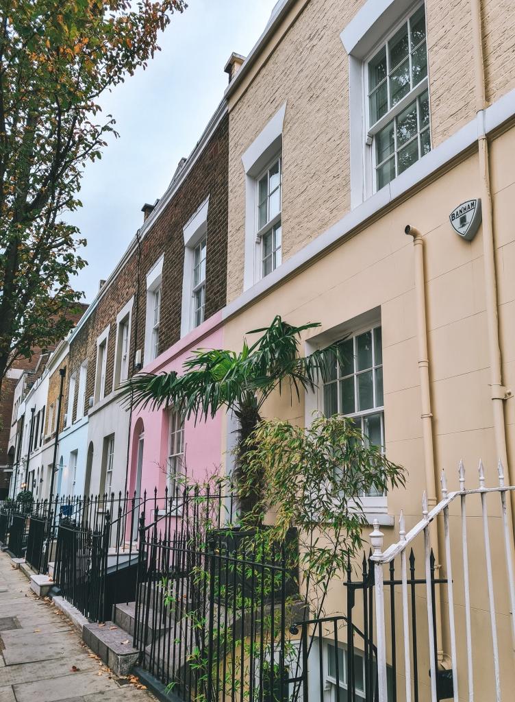 Multicoloured houses, Markham Street